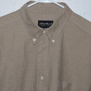 Eddie bauer button up mens shirt size XL J689